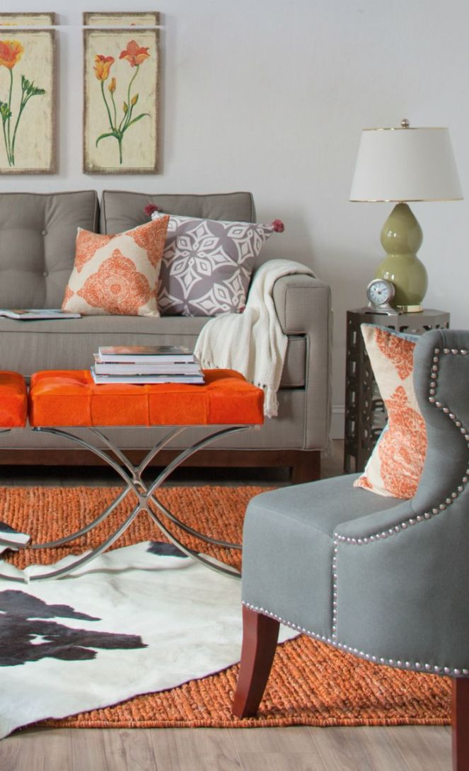 Orange-stool-or-coffee-table