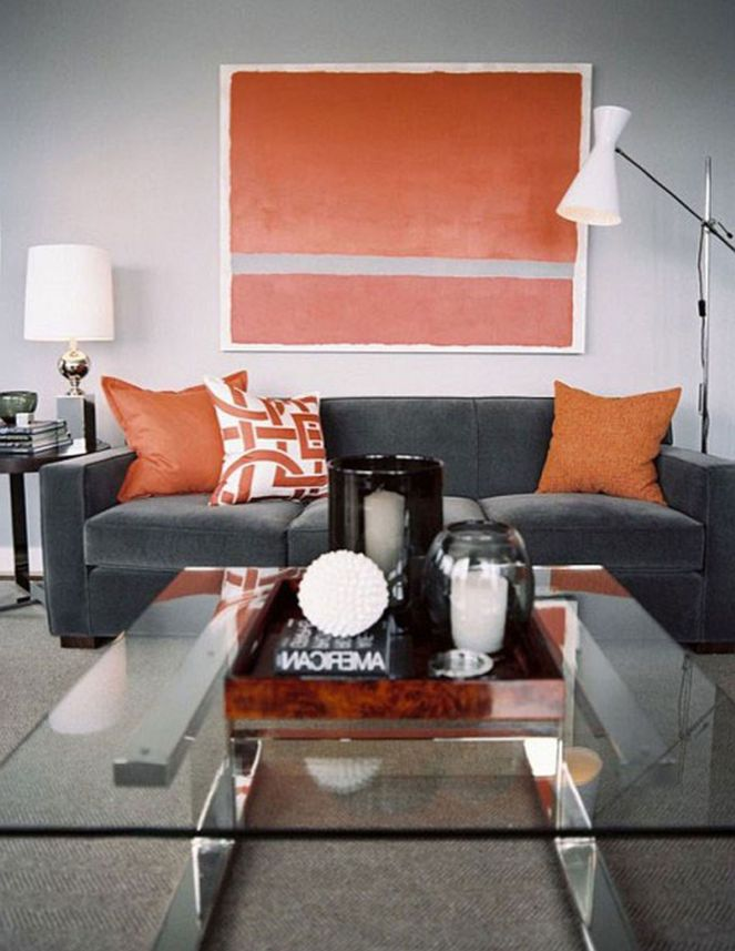 Oversized-orange-wall-art