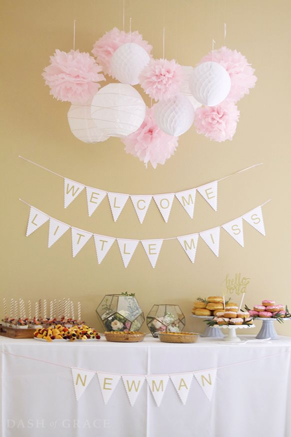 Welcome-banner-baby-shower-decoration