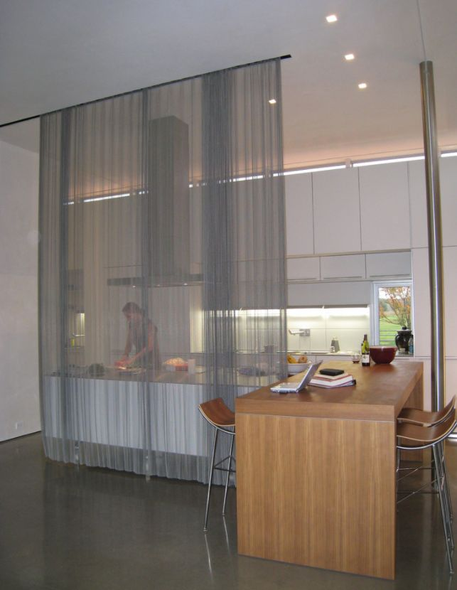 Kitchen-room-divider-with-curtain