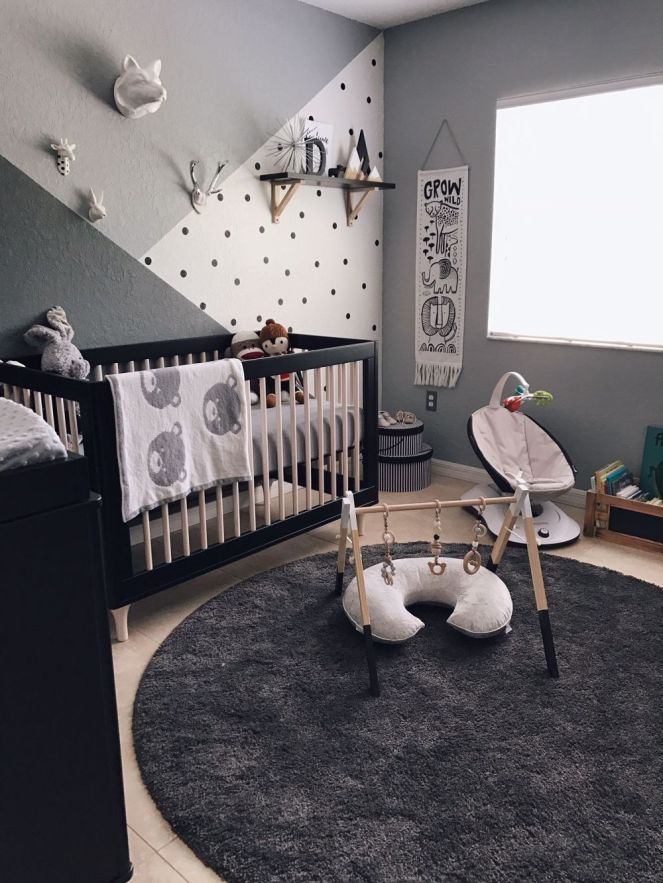 Nursery-in-deep-monochromatic-gray
