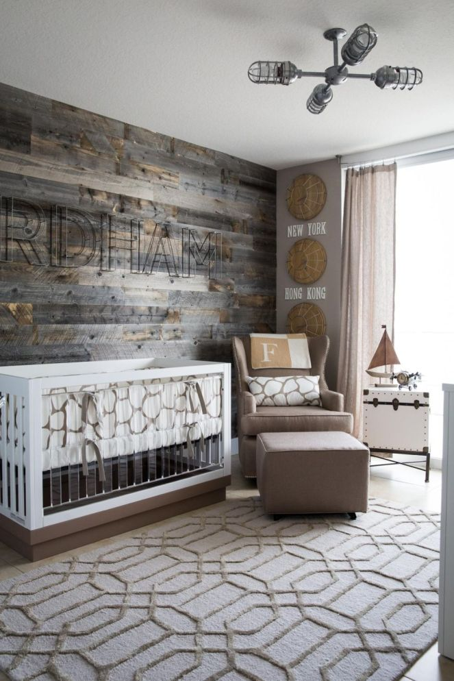 Reclaimed-wood-wall-for-nursery-room