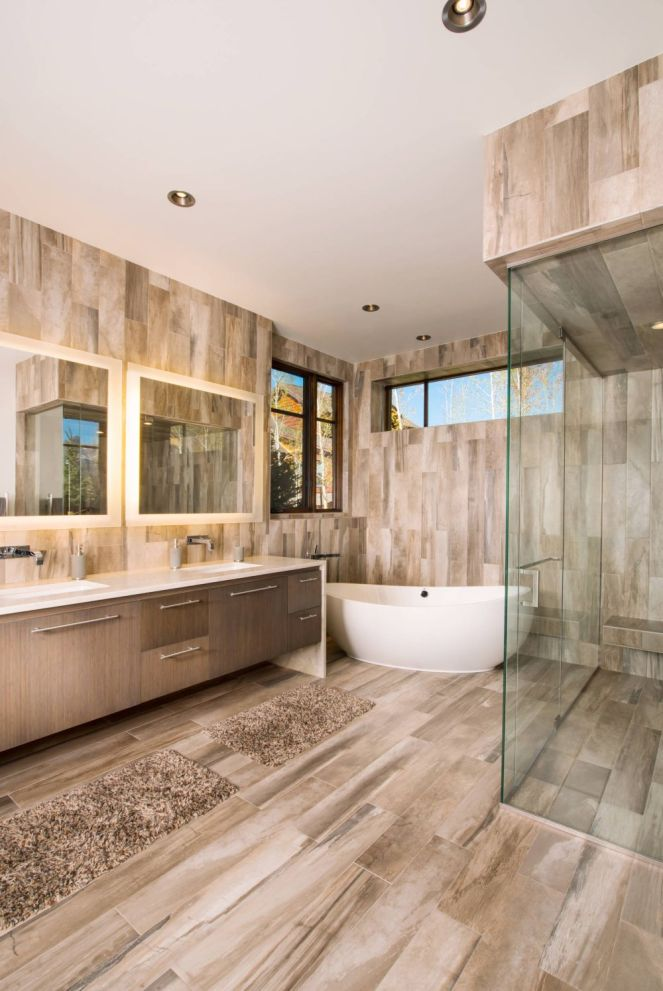 Complete-bathroom-with-wood-marble-tile
