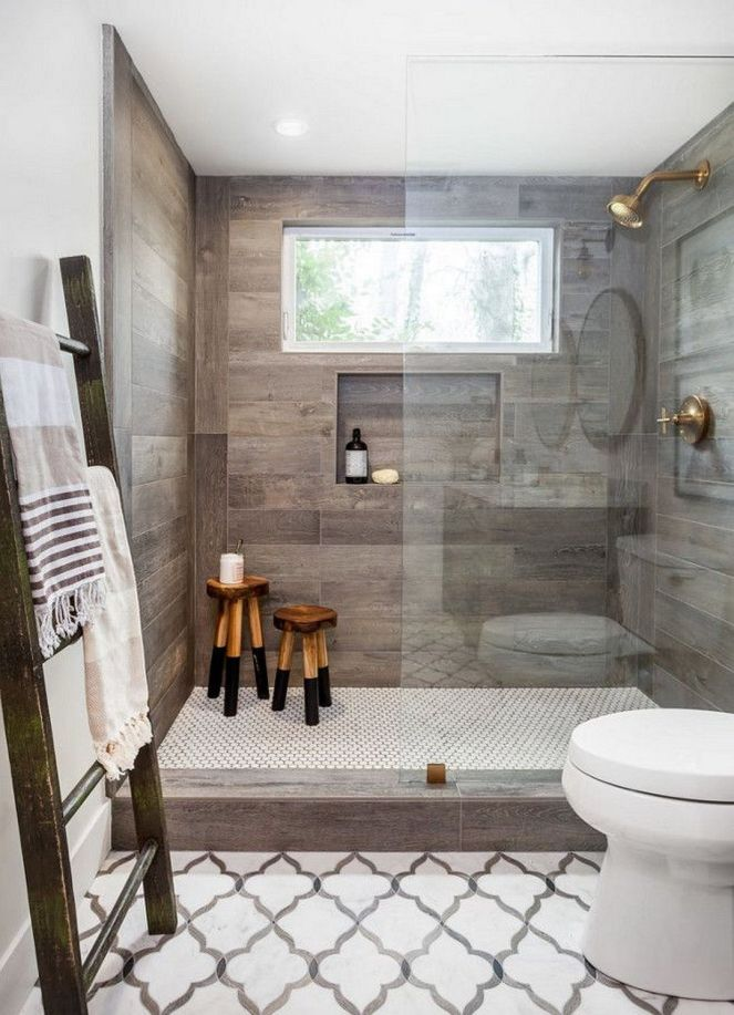 Farmhouse-bathroom-gray-wood-tile