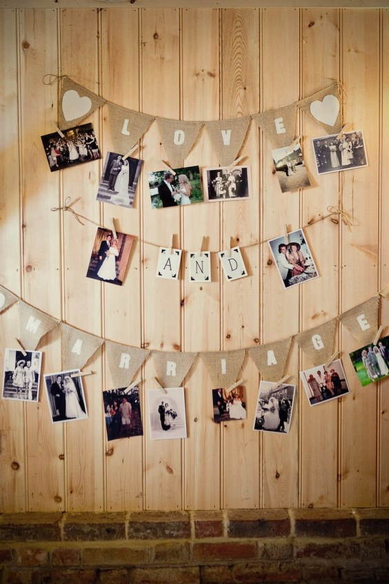 rustic-wedding-photo-display-idea